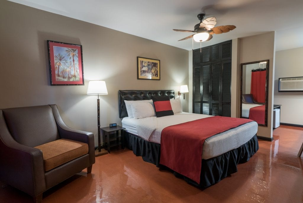 Luxurious rooms at Caliente Tropics